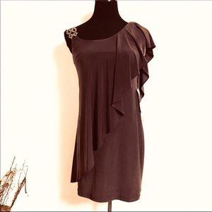 1-Shoulder Embellished Waterfall Cocktail Dress 4